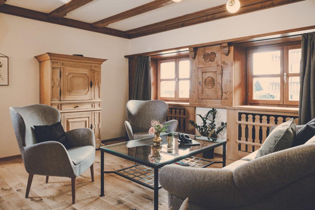 Der Lederer Hof Tegernsee - Wohnzimmer im Hochsitz