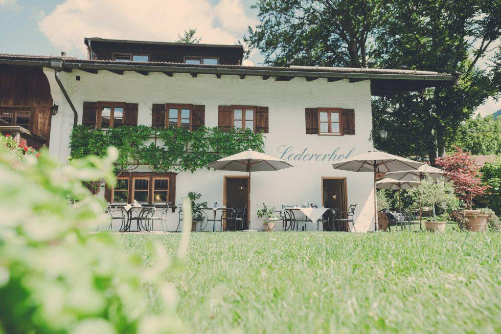 Der Lederer Hof Tegernsee - die Terrasse